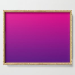 Neon Pink Purple Ultra Violet Pattern Serving Tray
