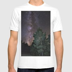 Summer Milkyway. At the mountains White Mens Fitted Tee MEDIUM