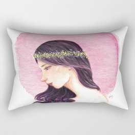 Purple Girl Rectangular Pillow