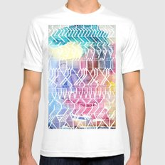 colorful Indians White MEDIUM Mens Fitted Tee
