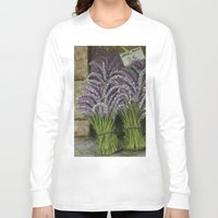 lavender Long Sleeve T-shirts featuring LAVENDER by ART FEEDS HUNGER