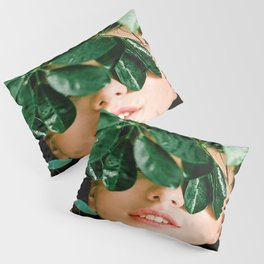 I love Nature Girl Leaves Pillow Sham