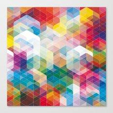 Cuben Curved #3 Geometric Art Print. Canvas Print