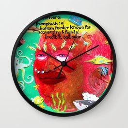 The Trumphish Wall Clock