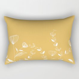 Minimal Floral Rectangular Pillow