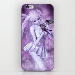 Purple Crow iPhone Skin