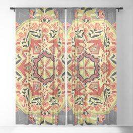 Vintage mandala pattern Sheer Curtain