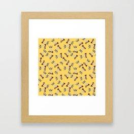 Busy Queen Bees Framed Art Print