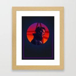 Doctor Strange 80's Alternative Character Poster Framed Art Print