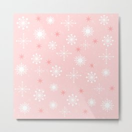 AFE Pink Snowflakes Metal Print