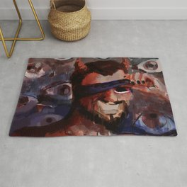 blindfolded demon Rug