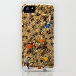 little world puppets at climbing wall iPhone Case