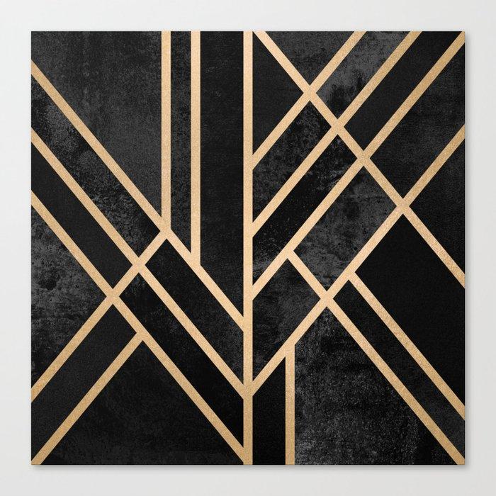 Art Deco Black Leinwanddruck