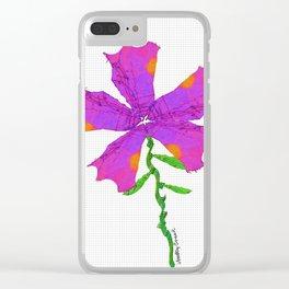 Strange Flora #001 Clear iPhone Case