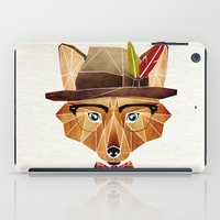 mr fox iPad Cases featuring mr. fox by Manoou