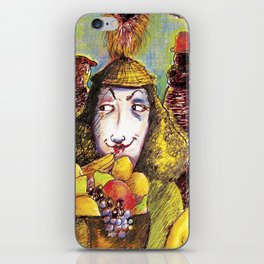Fruit Hats and Feathers iPhone Skin