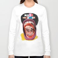 marie antoinette Long Sleeve T-shirts featuring Marie Antoinette by Genco Demirer