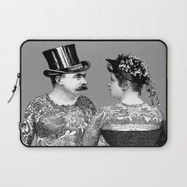 Tattooed Victorian Lovers Laptop Sleeve