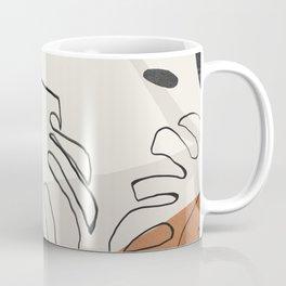 Minimal Abstract Art- Monstera Coffee Mug