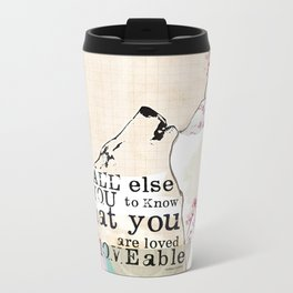 Above All You are Loved Metal Travel Mug