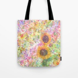 Cosmic Helianthus - Sunflowers Tote Bag