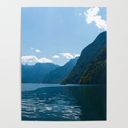 Koenigssee Lake with Alpes Poster