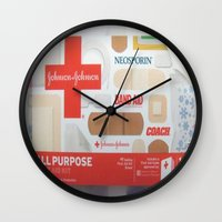 band Wall Clocks featuring Band Aid by Robin Curtiss