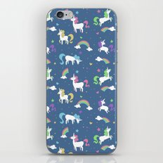 Unicorns and Rainbows - Blue iPhone & iPod Skin