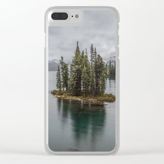 Landscape Maligne Lake Photography   Alberta   Canada Clear iPhone Case
