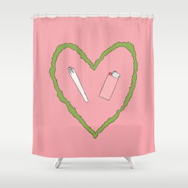 i love hanging out with you Shower Curtain