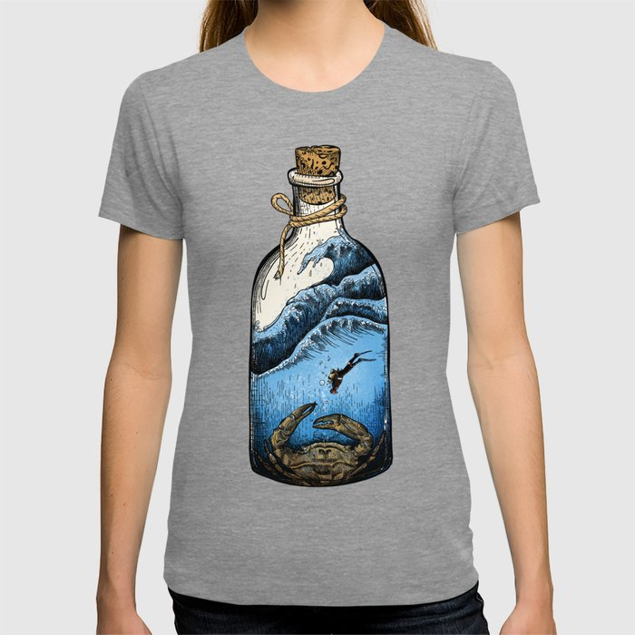 Deep blue bottle T-shirt