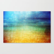 Paint The Sea Red Canvas Print