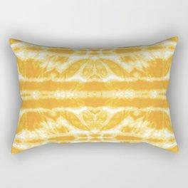 Yellow Tie Dye Twos Rectangular Pillow