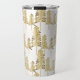 Pine Trees – Gold Palette Travel Mug