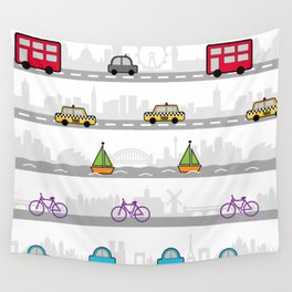 City travel Wall Tapestry