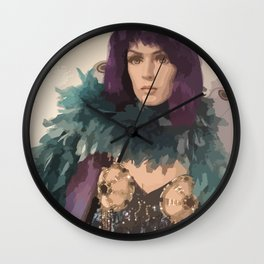 showcase doll - Eva with Butterfly Costume Wall Clock