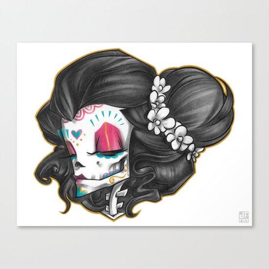 Madame Muerte COLOR Canvas Print