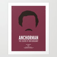 anchorman Art Prints featuring Dress The Part - Anchorman by Moxy Creative House