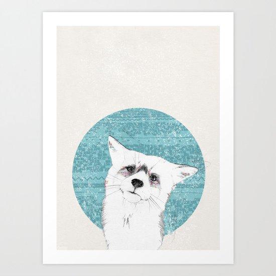 Waiting fox Art Print