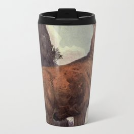 Vintage Red Deer Painting (1909) Travel Mug