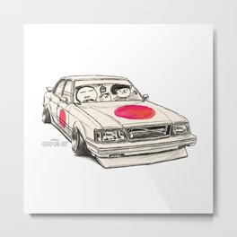 Crazy Car Art 0172 Metal Print