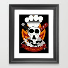 Chef For Life (Code Of Arms) Framed Art Print
