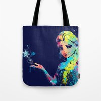 elsa Tote Bags featuring Elsa by lauramaahs