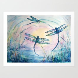 Dance of the Dragonflies Art Print