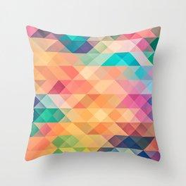 pixels desktop Throw Pillow