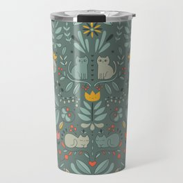 Swedish Folk Cats Travel Mug