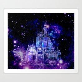 Celestial Palace : Purple Blue Enchanted Castle Art Print