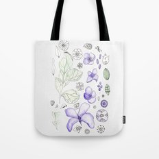 Violet Watercolor Tote Bag