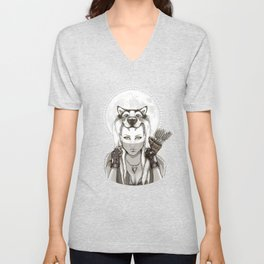 Fear Makes the Wolf... Unisex V-Neck