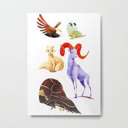 Arctic animals Metal Print